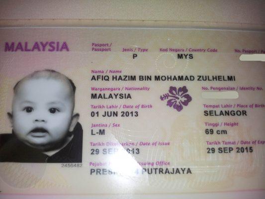 passport malaysia bayi