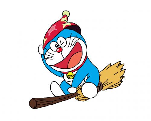 Doraemon dan penyapu