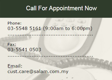 contact number appointment
