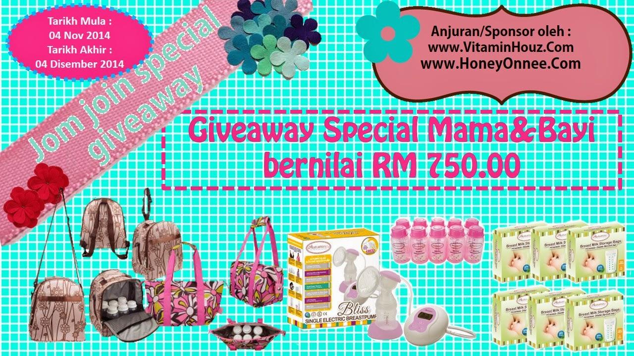 giveaway special mama dan bayi bernilai RM 750 untuk dimenangi