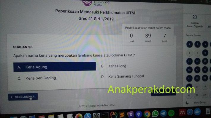 Contoh Soalan Peperiksaan Online Uitm Bagi Gred 41 Blog Anak Perak